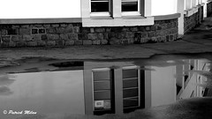 Window Reflection in the puddle (patrick_milan) Tags: reflection window puddle reflet fenêtre flaque rue noiretblanc blackandwhite noir blanc monochrome nb bw black white street people personne gens streetview
