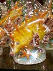 Glass Fish (dog.happy.art) Tags: glass fish handmade wooden souvenir shop store photoshopping corpuschristi texas padreisland