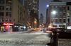 hail (Beau Finley) Tags: nyc beaufinley newyork hailingataxi hail taxi cab newyorkcity snow winter night street color woman outdoor road slush car