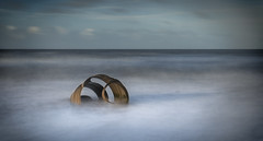 Mary's Shell (jaygilmour11) Tags: marysshell shell mary cleveley lancashire beach ocean landscape sculpture longexposure sky sand blue gold metal clouds