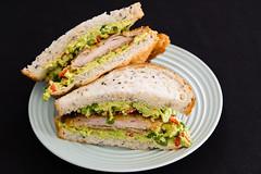 Chicken thigh schnitzel sandwich (garydlum) Tags: chicken belconnen avocado limejuice redchillies chickenthigh springonion chillies chickenthighschnitzel limezest bread canberra jalapeñopeppers sandwich