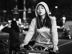 sleep-cycling (dr.milker) Tags: blackandwhite bw blancoynegro noiretblanc taiwan taipei urban street xinyiroad ubike bicycle rider people 台灣 台北 都市 人 街拍 自行車 腳踏車 微笑單車 信義路 黑白 candid