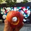 vous prendrez bien encore un petit ver ... (YOUGUIE) Tags: paris streetart lemur mur ericamizutanimizú pomme ver verdeterre animaux