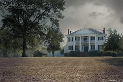 (SouthernHippie) Tags: house history historic home historical farm farmhouse field flickr michellesummersphotography south sky southern slavery sad serene rural country clouds civilwar countryside dreamy dramatic deepsouth dark darkness trees outside outdoors alabama architecture american windows colour colours moody