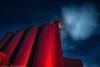 Candy Apple Night (dejavue.us) Tags: lightpainting california vle abandoned nikon silos d800 180350mmf3545 cloud nikkor fullmoon nightphotography mojavedesert longexposure industrial red