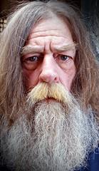 (Allan Saw) Tags: me man portrait long hair beard old wrinkled mood self messiah guru wasted decrepid yogi swami hermit grey gray moody sad hairy closeup headshot face