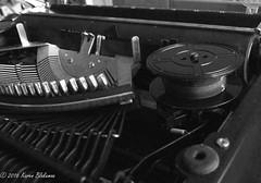 December 16th, 2016 Challenge Friday, theme ribbons - typewriter ribbon (karenblakeman) Tags: challengefriday cf16 2016 2016pad december ribbons typewriter blackandwhite