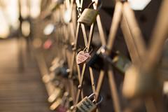 Unchain my heart (Nathalie Le Bris) Tags: fence heart corazón verja brooklynbridge newyork sunrise hff
