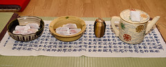 017_0455 (caploncour) Tags: chanoyu cérémonieduthé urasenke koicha wagashi matcha patisserie tatami kama rosetup