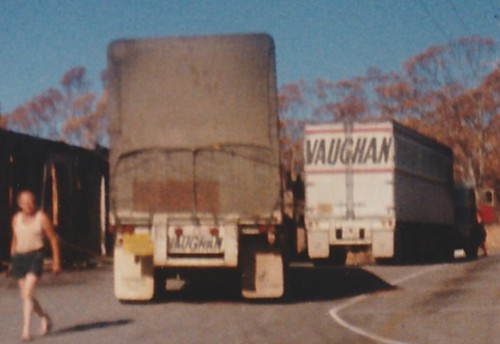 """Eagle on the Hill"" Vaughan Transport Trailers, 4 a, Adelaide Hills, South Australia. c 1983"