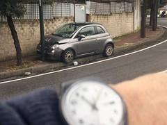 (andrea.a) Tags: 500 fiat posillipo incidente napoli naples scontro palo