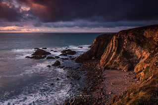 Crohy Cliffs lit by a beautiful golden light
