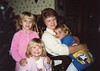Carrie Farren, Margaret Whitaker, Jenny Farren, Stacie Whitaker (photosbysusan!) Tags: 198712 mom carrie jenny stacie favorite