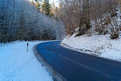 Road to the snow. (christiannass) Tags: white sony tree pointofview sonyslta58 flickr blue green winter exploring inspiring day nature brown botany animal traveling snow camera germany idyllic travelling frost tranquility explore inspired outdoors light