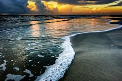 Sea Bubbles (Adam Kyle Jackson) Tags: bubble bubbles sea seaside shoreline coastline coast shore beach beaches sand storm thunderstorm clouds sunset sunrise sunsets sunrises reflection ocean gulf gulfcoast gulfofmexico texas houston galveston waves