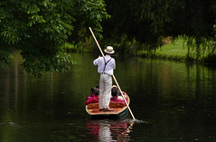 Jolly boating weather.. (Bernard Spragg) Tags: puntingavonchristchurchnz river boats punting lumixfz1000 water stream relax ride avonriver