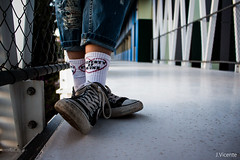 Converse (kikivh96) Tags: murcia mirror smoke up lights girl models model shoes converse photography way canvas black smile hair inception stairs dreaming corridor shot grill shadow patch balcony makeup prism unstable film contrast architecture moving