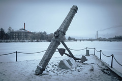 Anchor (samiKoo) Tags: anchor city river urban statue memorial monument art winter ice cityview cityscape january finland photography photo photograph canon 6d 24105mml
