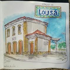 Estação da Lousã (JMADesigner) Tags: sketchs urbansketchers urbansketchs sketchcrawl sketch lousã