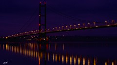 Hull City of Culture - Humber Bridge (A>M>S) Tags: hullcityofculture hull humber humberbridge night river water reflection ams pentax