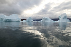 Arctic Tranquility (Derbyshire Harrier) Tags: easterngreenland 2015 autumn september reflection rødefjord icebergs mvplancius naturetrek greenland arctic scoresbysund clouds ngc