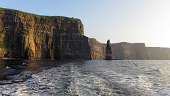The Cliffs of Moher on a side trip on the Aran Islands Ferry (albatz) Tags: cliffsofmoher ireland cliffs rockformation ferry boat lookingback