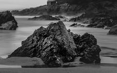 Black Rock (Rich Walker75) Tags: beach beaches rock blackandwhite blackwhite monochrome plymouth bovisand landscape landscapes landscapephotography water coast canon eos100d efs1585mmisusm efs uk england devon