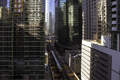 Building canyons taller (aerojad) Tags: chicago winter theloop cta thel train trains traintrack traintracks transit