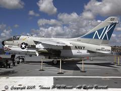 "154370   (Vought, A-7B, ""Corsair II"") (Thomas P. McManus) Tags: 154370 voughta7bcorsairii ussmidwaymuseumcva41 sandiegoharbor canonef24~105mmzoomlens canoneos5dmk2"