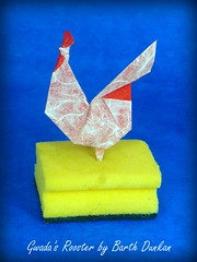 Gwada's Rooster (slightly varied) - Barth Dunkan (Thomas Krapf Origami) Tags: rooster hahn vogel bird origami paper paperfolding papierfalten barth dunkan magic fingaz papier