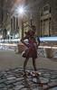 Fearless Girl (20170310-DSC08165) (Michael.Lee.Pics.NYC) Tags: newyork fearlessgirl internationalwomensday kristenvisbal statestreet sculpture publicart bowlinggreen chargingbull lighttrail traffictrail night broadway longexposure sony a7rm2 voigtlandernoktonclassic35mmscf14