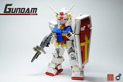 10. Gundam w Shield Front (Sam.C (S2 Toys Studios)) Tags: rx782 gundam mobilesuit legogundam lego moc samc s2toys 80s scifi mecha anime japan spacecraft