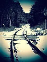 Tracking Winter (Professor Bop) Tags: professorbop drjazz railroad railway tracks snow winter monochrome olympusem1 hoosickfallsnewyork