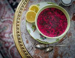 beetroot soup russian style (Melinda Kovacs-Siklosi) Tags: food kitchen soup lemon healthy egg cook vegetable sage carrot eggs veggies veggie russian pea beetroot kapern russiankitchen lifeystyle
