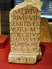 A visit to Kln (Cologne) Roman Museum (John McLinden) Tags: horse glass dedication stone paint text tombstone jewelry altar latin monuments tombstones inscriptions carvings altars slave inscription dedications servant romanbust klncologne romanglass glasswear cavalryman romanbusts romanmonuments romaninscription romantombstone romanjewelry romanaltars romanaltar romancavalryman romanglasswear romandedications romandedication
