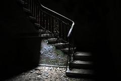 Staircase - Beelitz Heilstätten (sensaos) Tags: urban abandoned stairs germany dark deutschland darkness decay exploring creepy staircase forgotten sanatorium exploration derelict abandonment trespassing eery ue urbex 2015 beelitz heilstätten sensaos