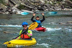 JimEh and Andrew kayaking the Castle River.