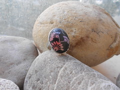 DSCN3190 (katerina66) Tags: handmade ring jewellery polymerclay polymer handmadejewellery   silkskreen