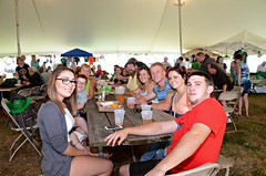 Taking up the whole table at the Northeast Philadelphia Irish Festival