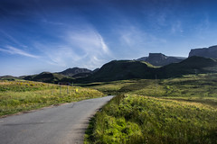 Rocky Road (Neillwphoto) Tags: road mountains skye grass sunny hills isle
