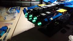 Hiigaran Battlecruiser WIP 13 (Engine Test) (Rphilo004) Tags: lighting ship lego space spaceship homeworld effect spacecraft battlecruiser hiigaran shiptember
