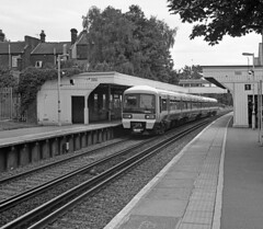 Commuterland (DH73.) Tags: blackandwhite 6x6 monochrome train lens south railway east southern commuter emu division rodinal 90mm eastern region kiev vega 6c ilford fp4 penge swanley 12b lcdr r09