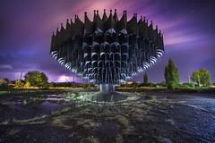 Abandoned Fountain, Gymri, Armenia (inhiu) Tags: fountain metal armania armenia urbex night nightphotography inhiu longexposure sky lightpainting light gymri