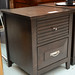 Two drawer darkwood locker