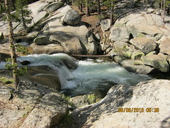 This is on the Dana Fork a few minutes downstream from the Tuolumne Lodge.  When the water is lower and the foam reduced you can make out an underwater bridge (lower center) (Bob_ Perry) Tags: yosemite tiogapass tuolumneriver greenpool tiogapassresort danafork underwaterbridge inyonational cabinnumber9