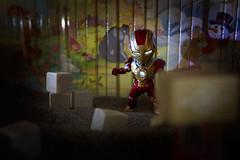Project 52/2015/41 - Superhero (Aerokev) Tags: rock stone canon toys books ironman superhero winniethepooh poohbear figurine secretlifeoftoys danbo ghettolighting offcameralighting 100acrewoods eos5d3 votogs52