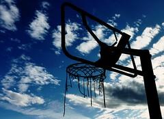Hoop Land (Ph0tomas) Tags: sunset sky newmexico net basketball clouds hoop landscape socorro cloudslightningstorms