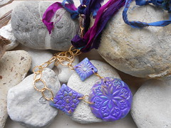 DSCN3300 (katerina66) Tags: texture necklace handmade jewellery chain polymerclay polymer handmadejewellery silksari