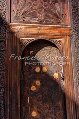 Carved wood door at Bou Inania (FM Photographer) Tags: africa fez medina marroc bouinaniamedersa feselbali puertadoor madrasamedersa