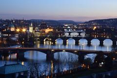 Prague bridges from Letn (MikyRafa) Tags: rio noche praga most puentes vltava karlv simplysuperb d3300 czphoto